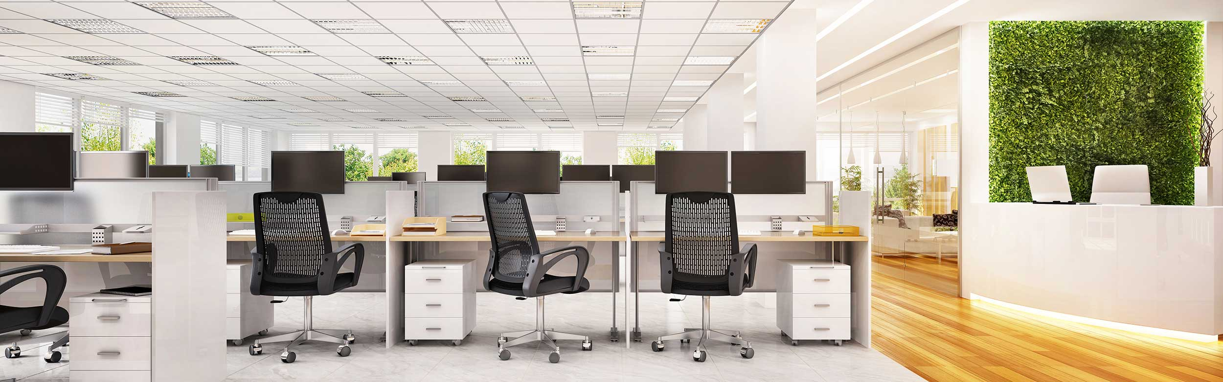 Bureaux ergonomiques et rangements