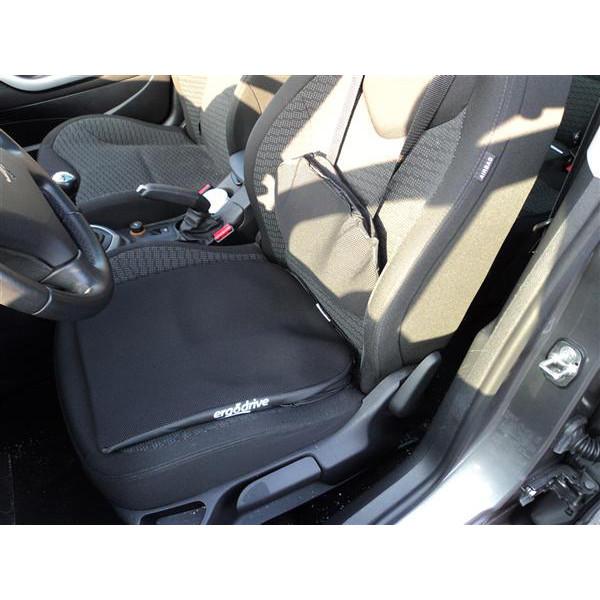 Assise Ergodrive anti-chocs et vibrations pour la prévention du mal de dos en voiture