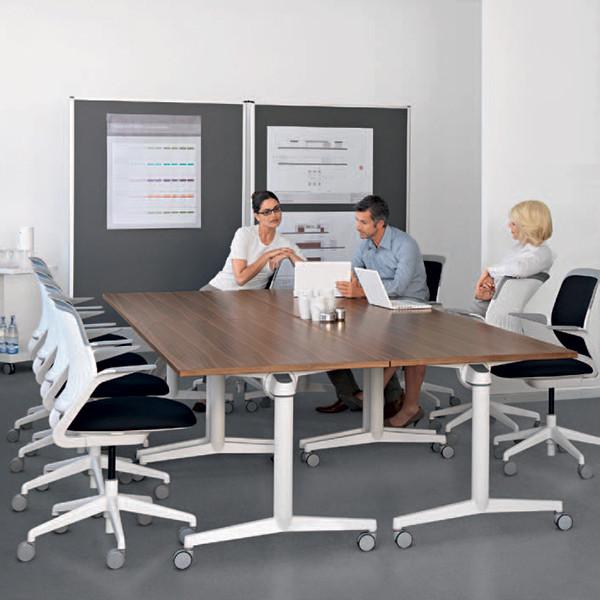 Table ergonomique de réunion modulable Flip Top Twin