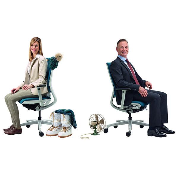 Siège ergonomique avec chauffage et climatisation Klimastuhl2