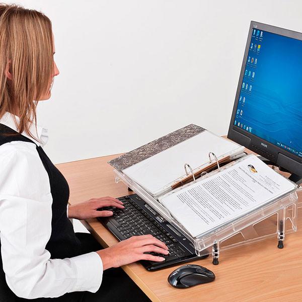 Pupitre/ porte-document ergonomique