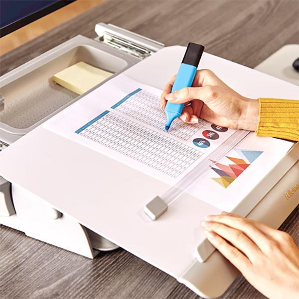 Porte-documents ergonomique HANA avec réglette aimantée