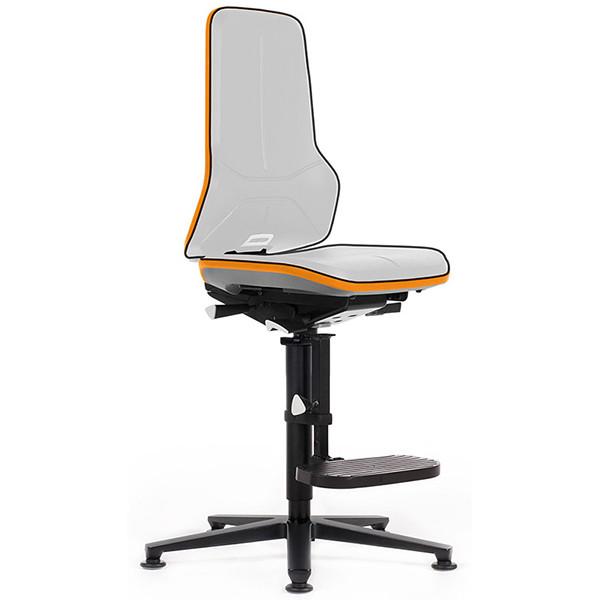 Siège ergonomique NÉON pour l'industrie et la production, les laboratoires ou les environnements ESD