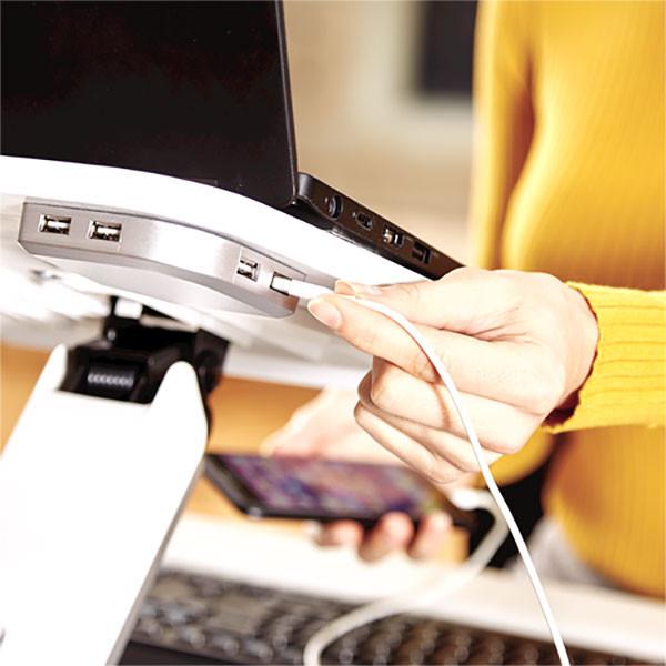 Support ergonomique ordinateur portable HANA placage bois véritable