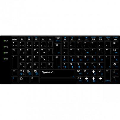 Sur-clavier BEPO noir pour clavier TypeMatrix 2030